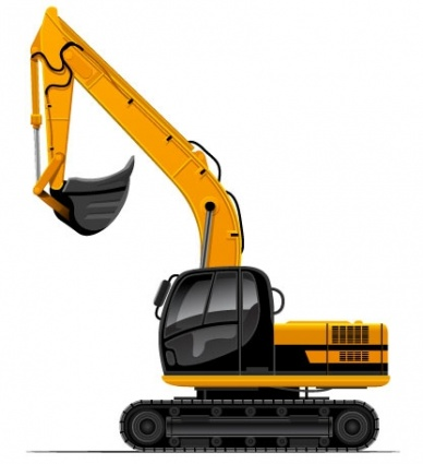 Backhoe clipart plant machinery. Excavator at getdrawings com svg royalty free library