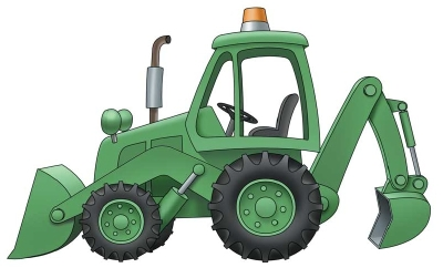 backhoe clipart plant machinery