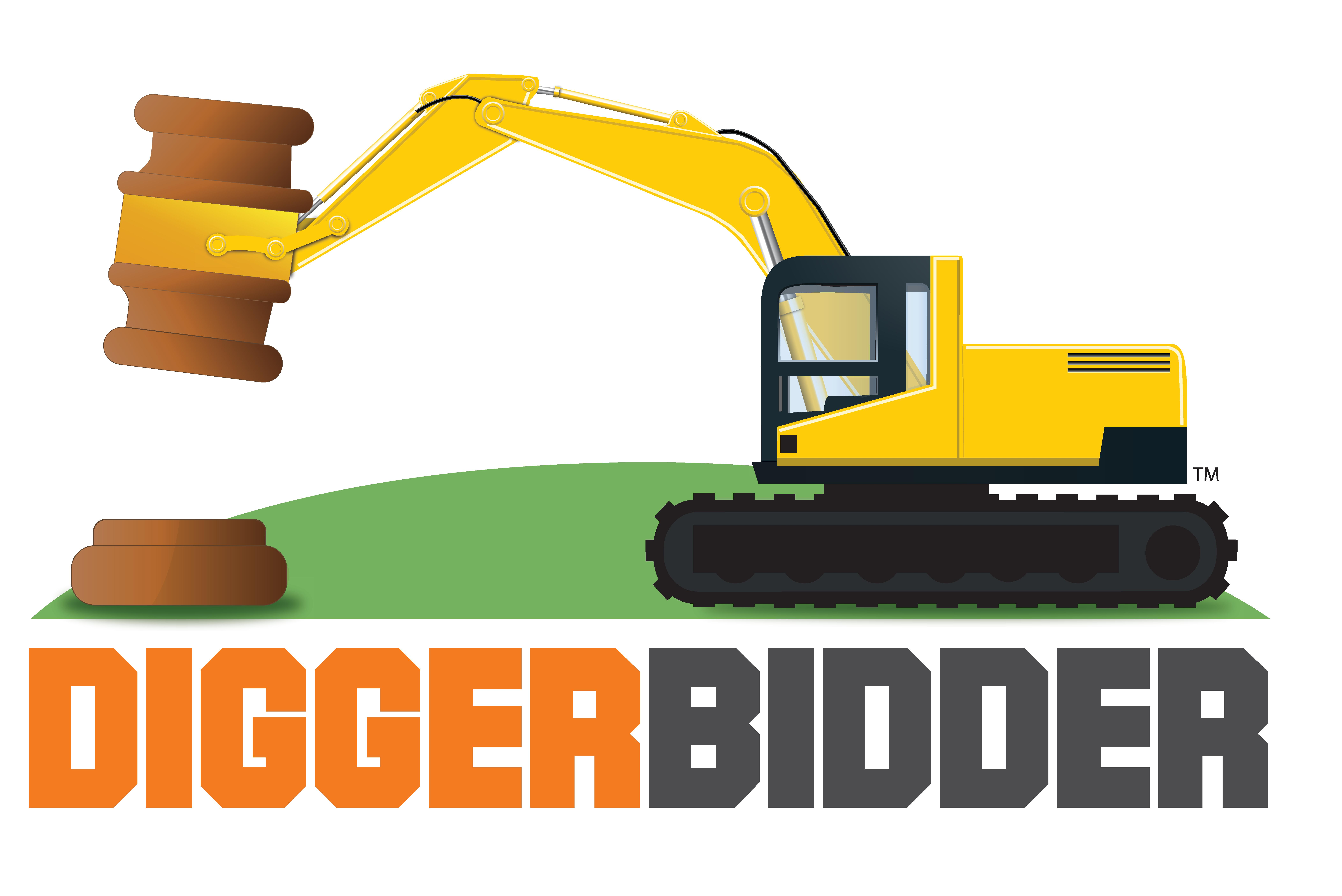 Digger bidder the new. Backhoe clipart plant machinery black and white