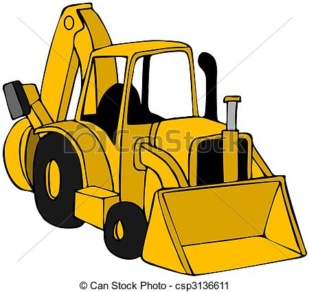This illustration depicts a. Backhoe clipart image free stock