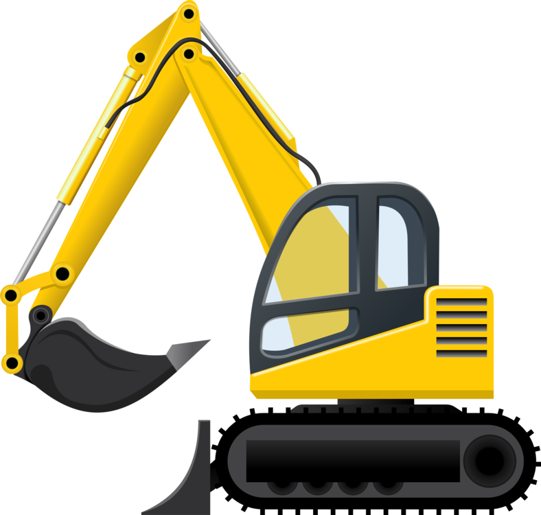 Backhoe vector excavator cat. Caterpillar inc heavy machinery