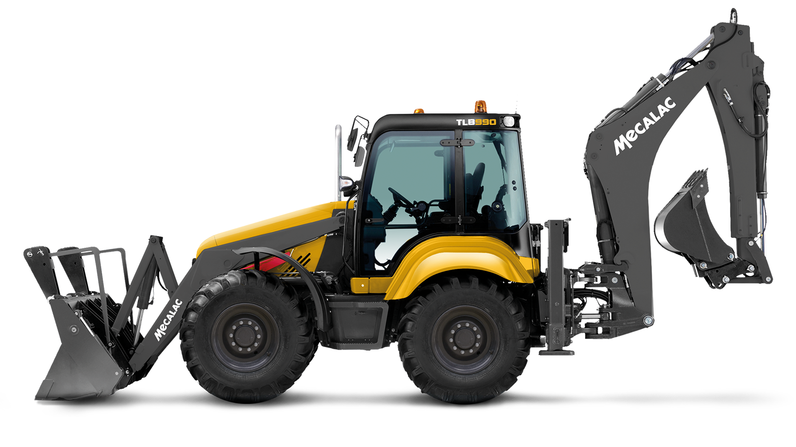 Backhoe vector construction equipment. Mecalac innovative for urban