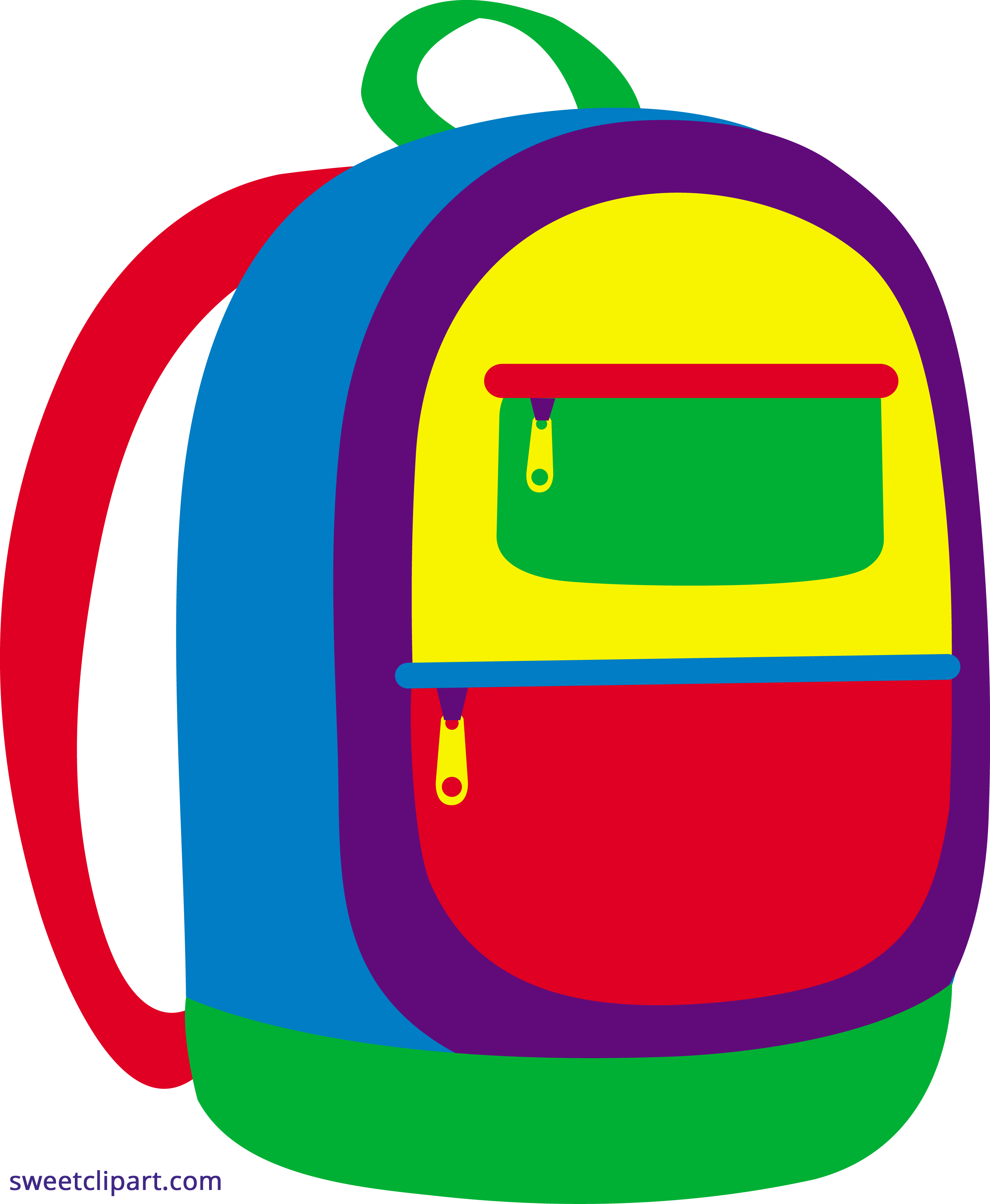 Colorful clipart. Backpack sweet clip art