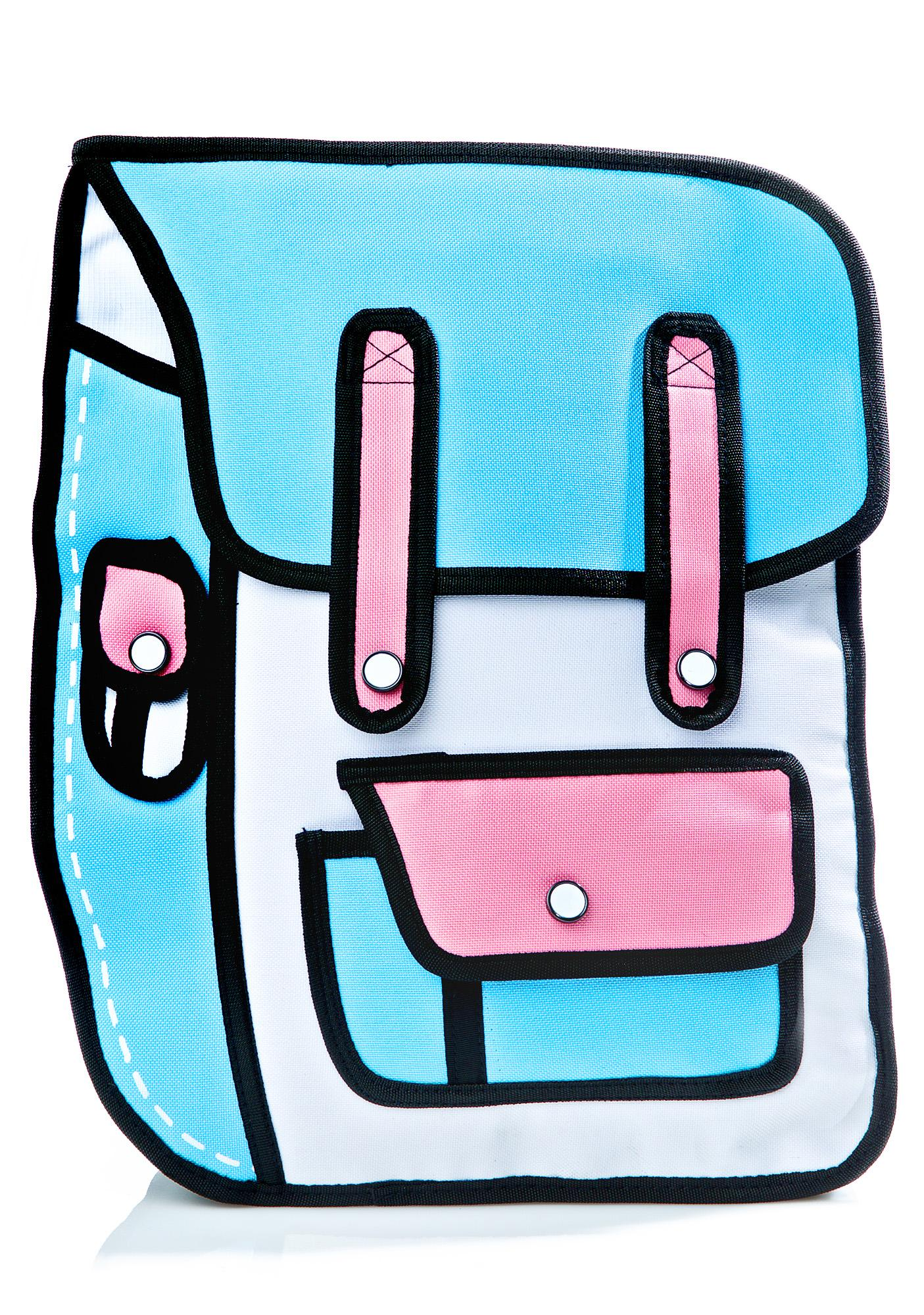 Backpack clipart blue purse. Delusional cartoon dolls