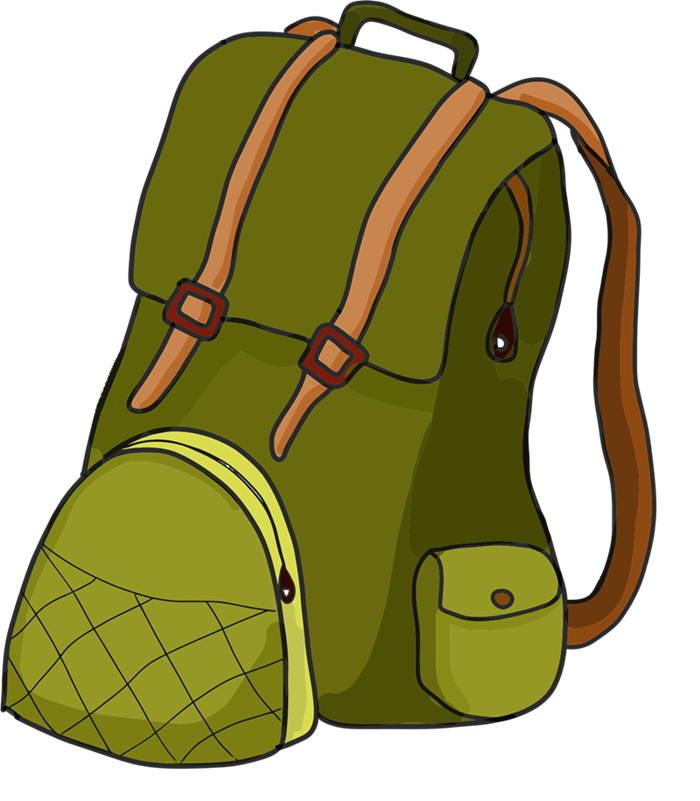 Backpack clipart clear background. Book bag free clip
