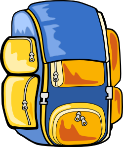 Backpack clipart clear background. Kid packing panda free