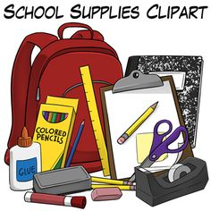Backpack clipart school item. Back to supplies price
