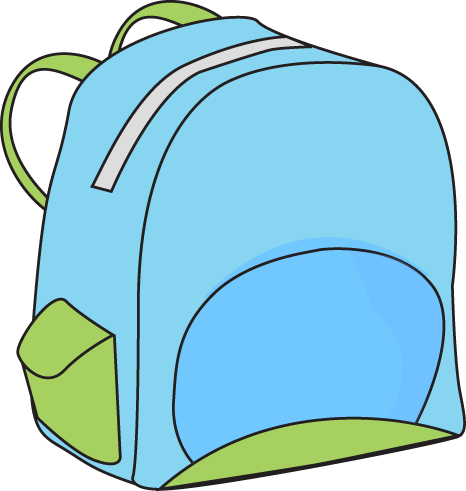 backpack clipart blue purse