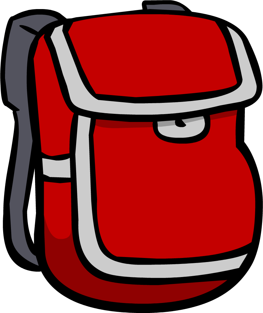 Backpack png clipart. Image red club penguin