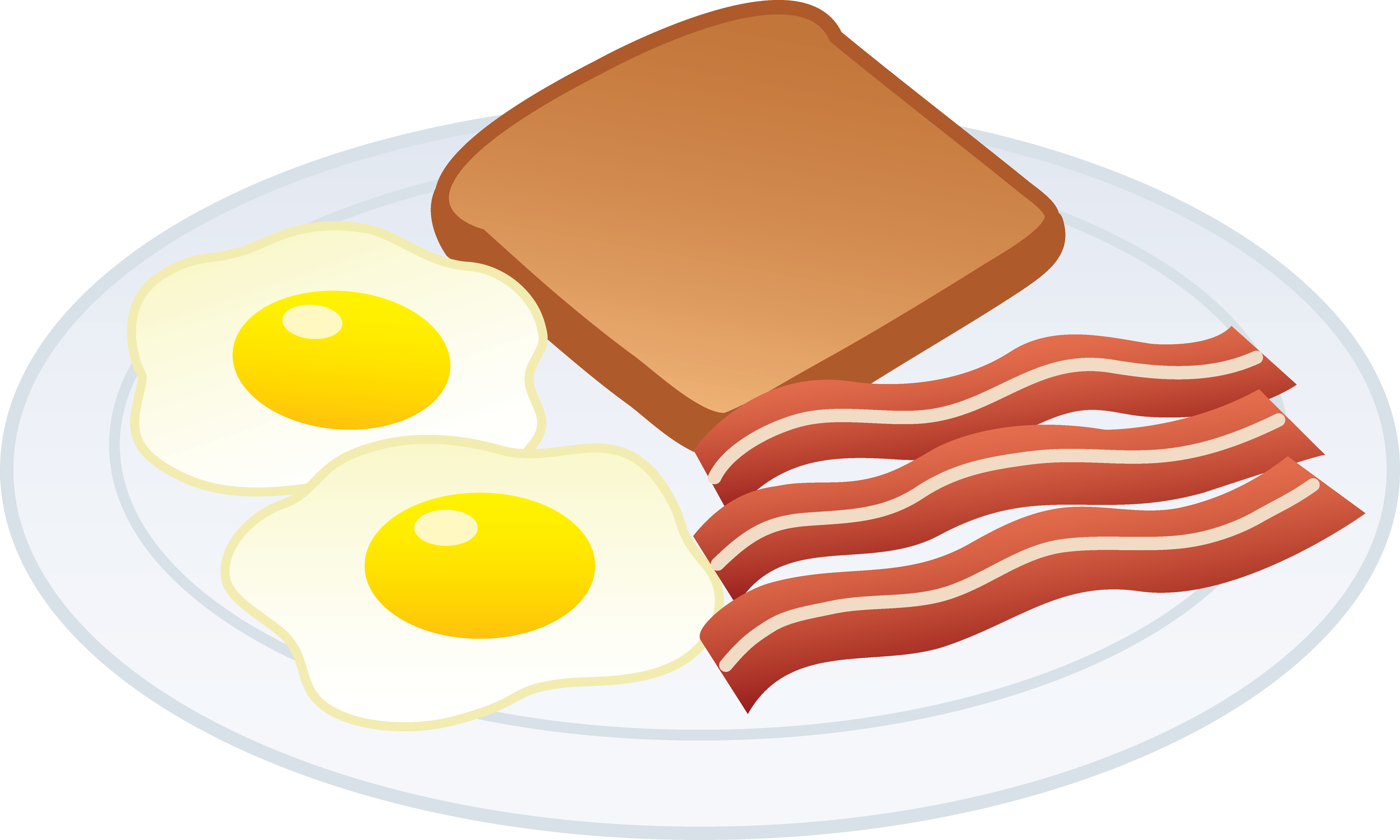 Plate of bacon . Breakfast clipart royalty free library