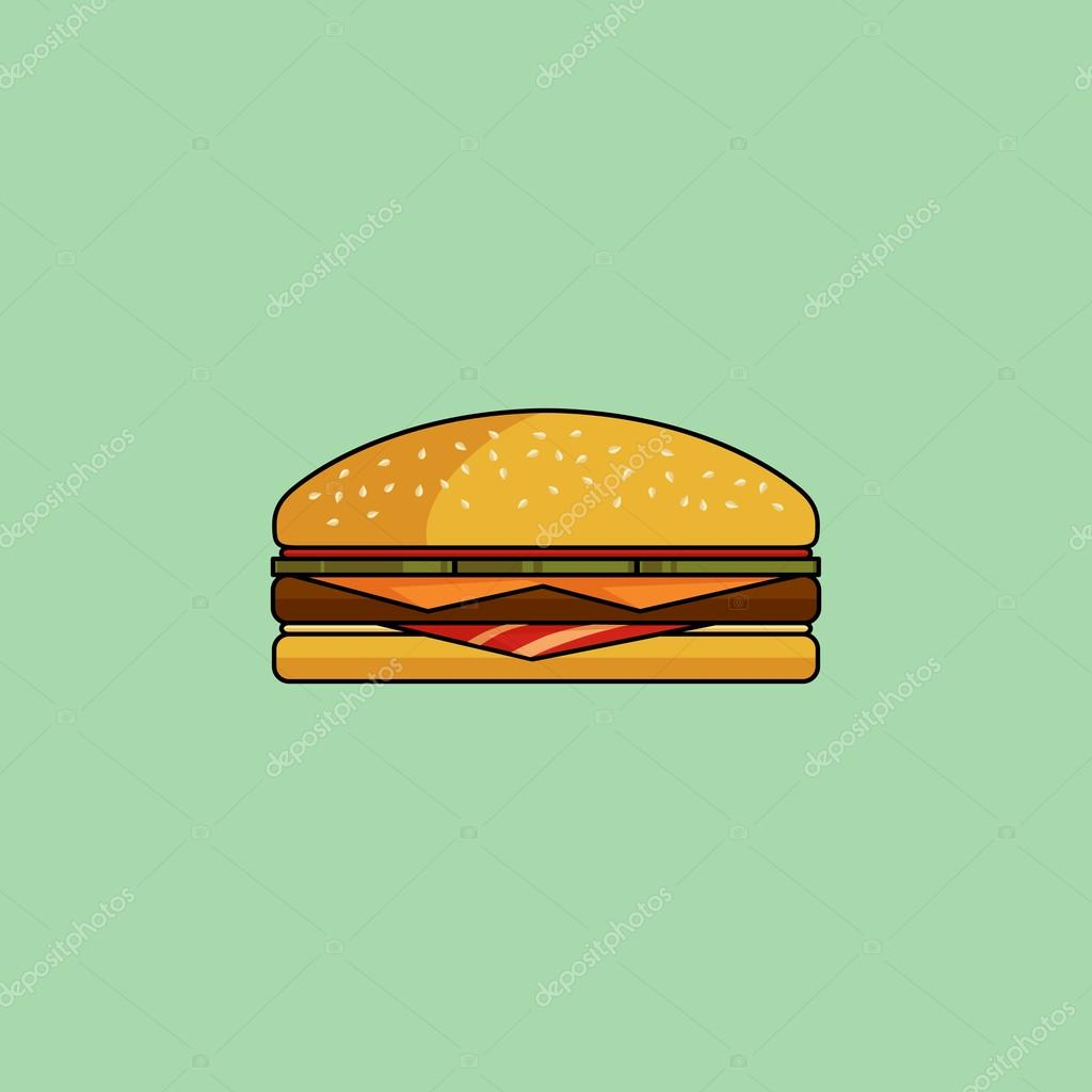 With in minimalist style. Bacon clipart bacon cheeseburger clipart free download