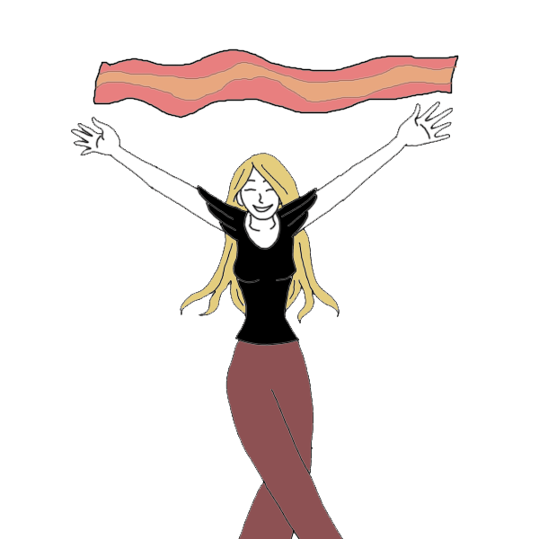 Dream dictionary interpret now. Bacon clipart character clip black and white