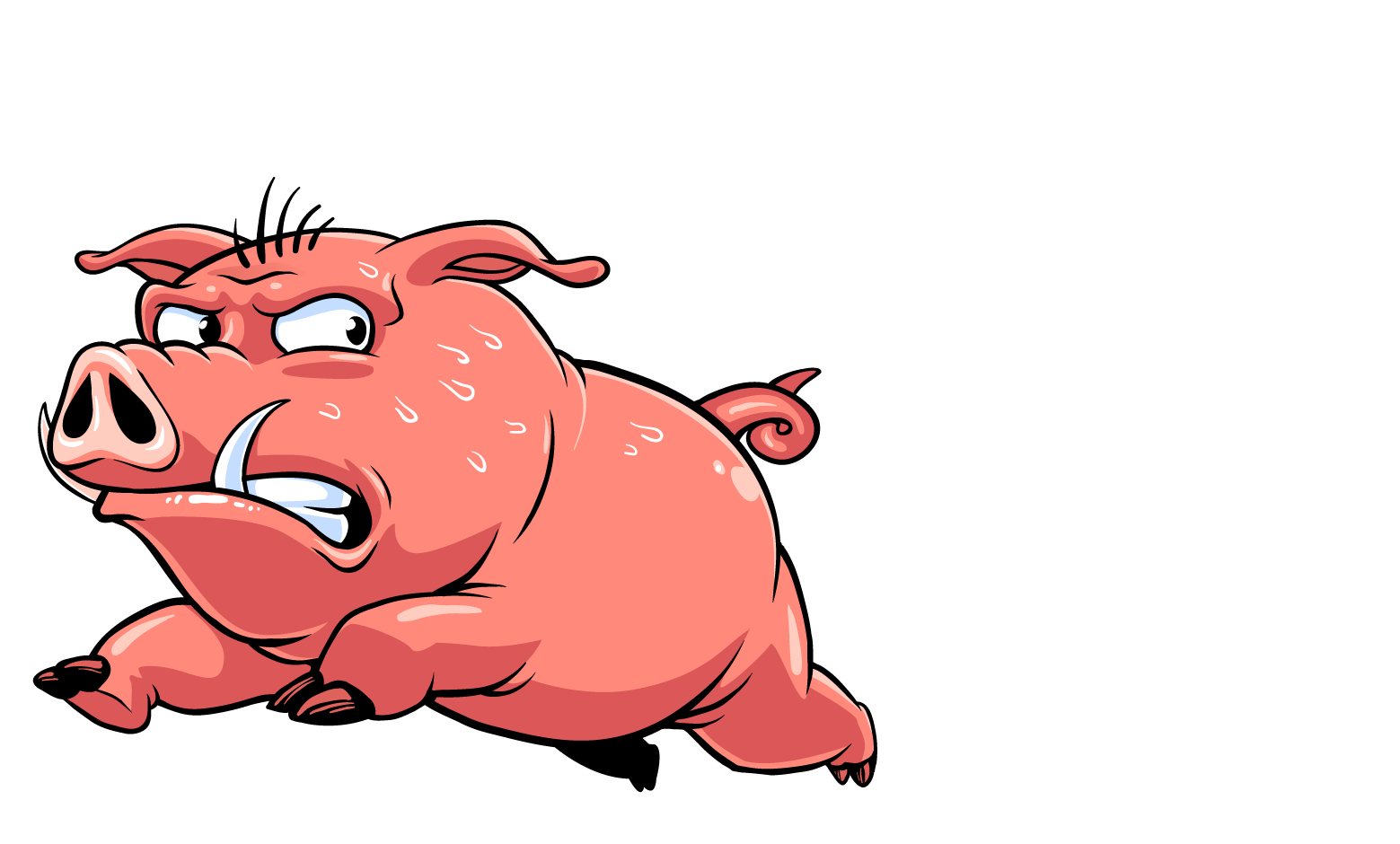 Rendy the run logo. Bacon clipart character transparent
