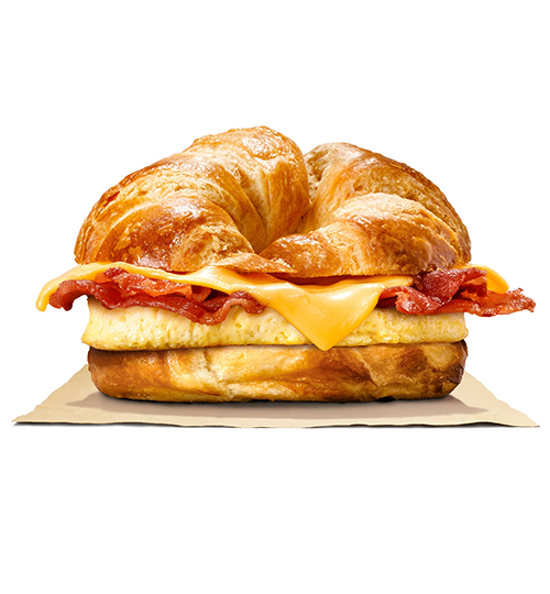 Bacon egg and cheese sandwich png. Burger king turkey croissan