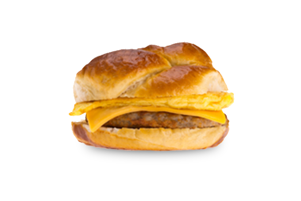 Bacon egg and cheese sandwich png. Breakfast kum go sausage