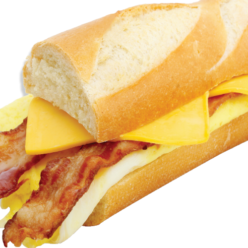 egg and cheese baguette png