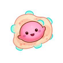 Bacteria png kawaii. Fluffs animals cute clipart