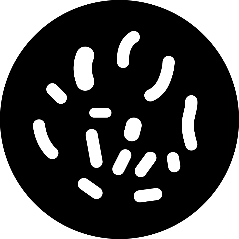 Bacteria png white.