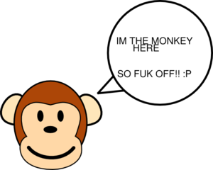 Bad clipart. My monkey is clip
