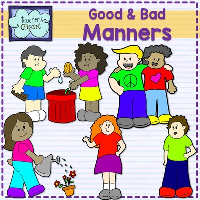 Good and manners multicultural. Bad clipart bad child picture black and white stock
