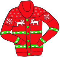 Xmas clipart jumper. Free bad reindeer cliparts