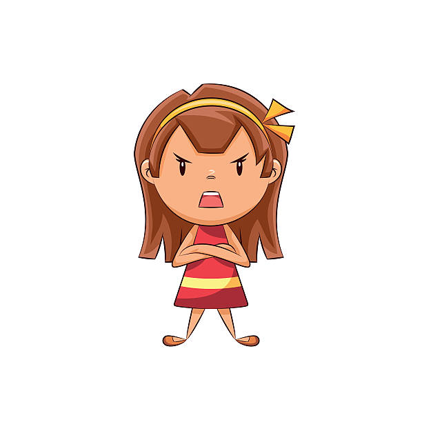 Bad clipart lady. Anger group friend pencil