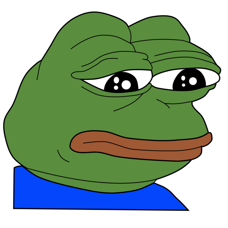Bad clipart sad. Pepe the frog internet