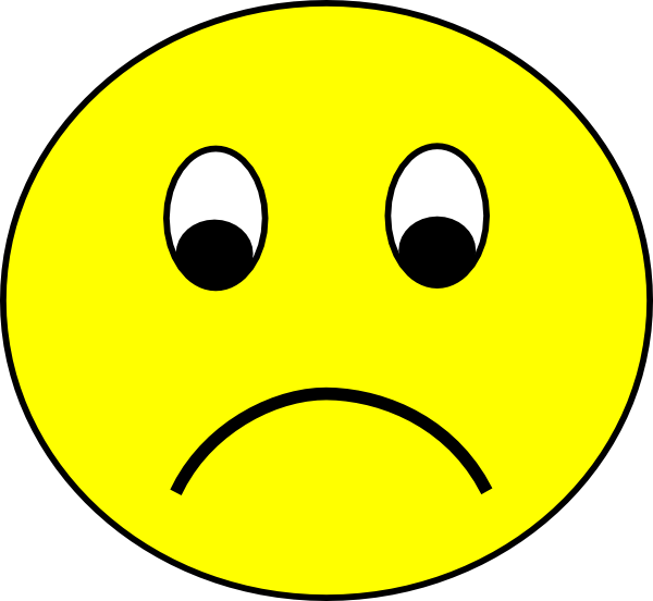Bad clipart sad. Free emoticons download clip