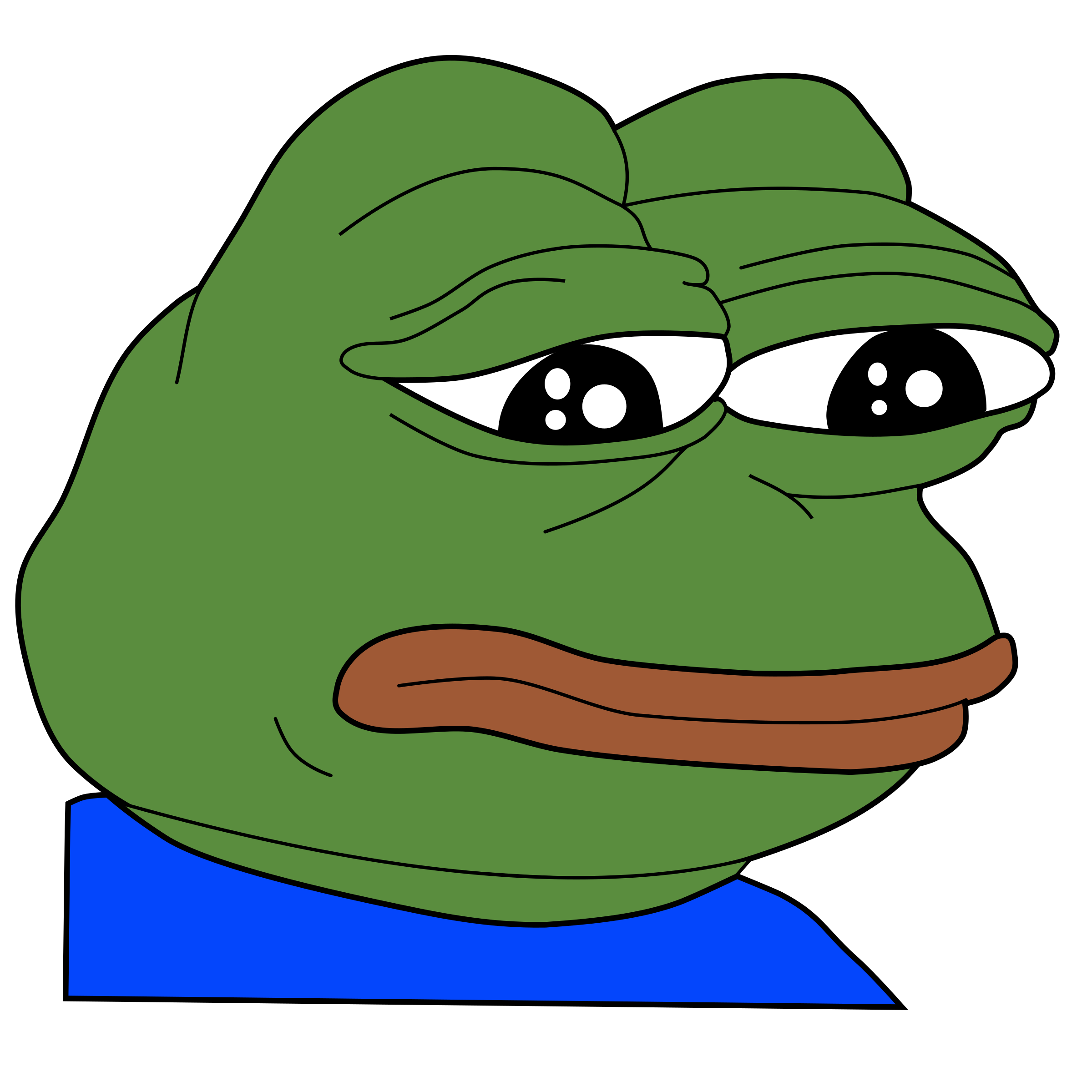 Sad frog bad meme. Pepe vector feels good man banner black and white library