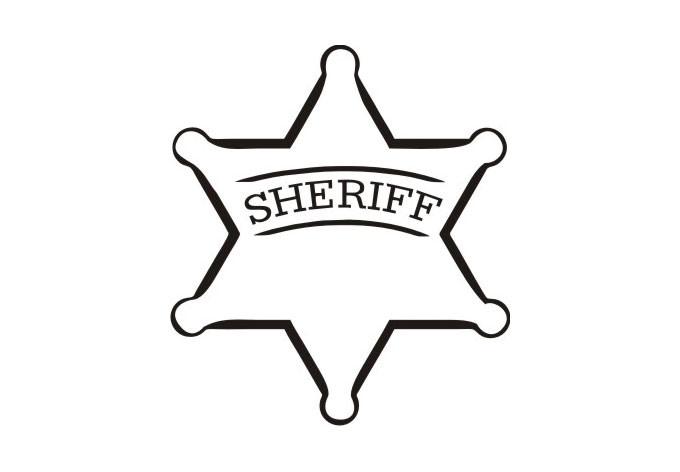 Sheriff clipart sherrif. Badge coloring page many