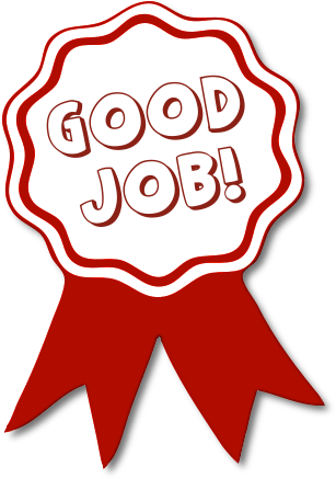 Good job sticker png. Free awards clipart fizza