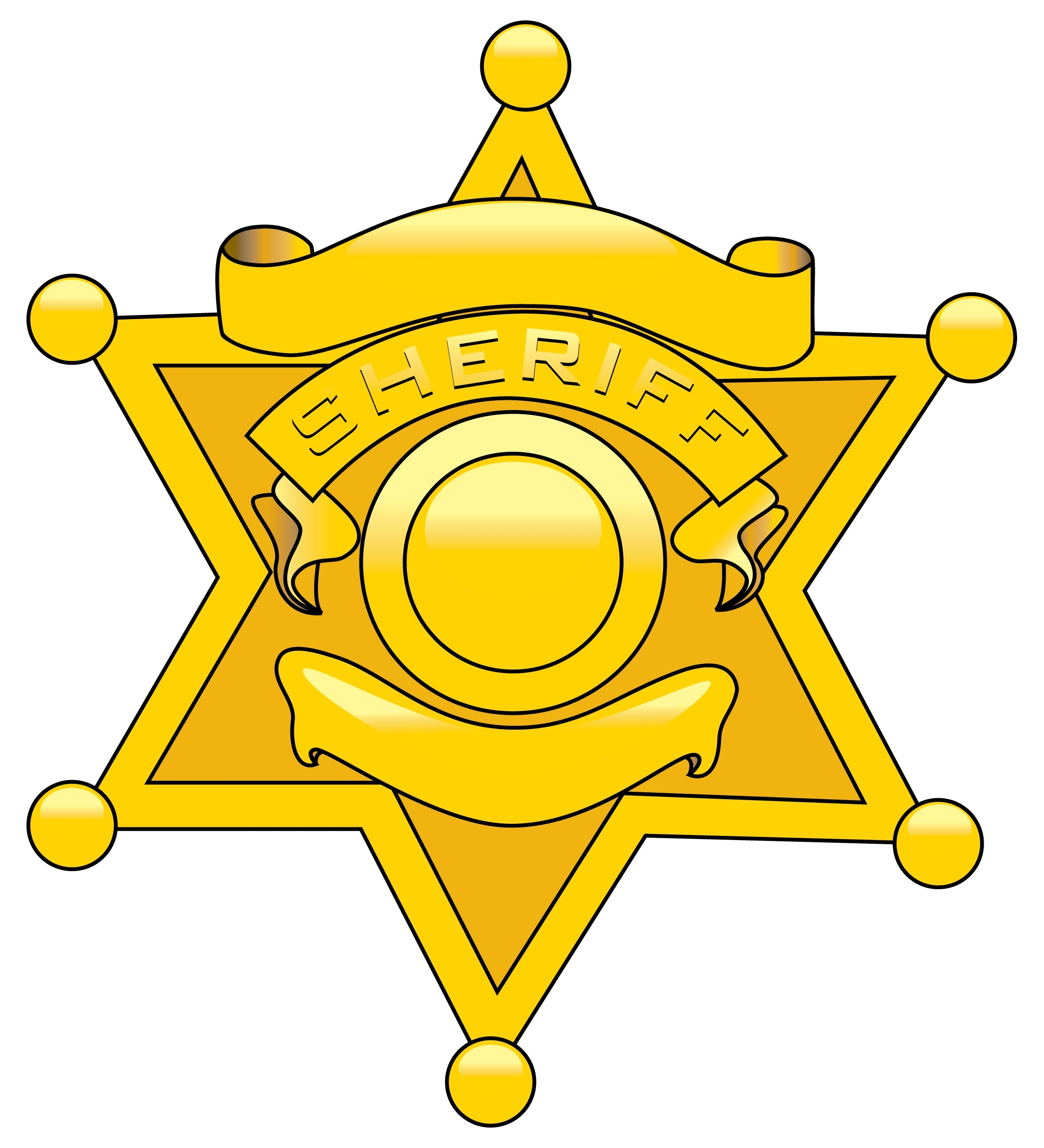 Badge clipart clip art. Police star letters sheriff