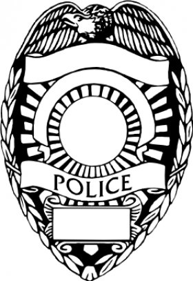 Police . Badge clipart cop badge jpg black and white