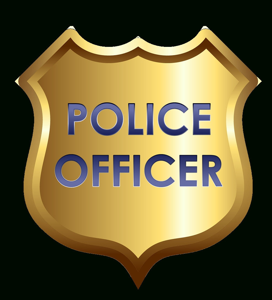 Police officer cliparts and. Badge clipart cop badge banner black and white download