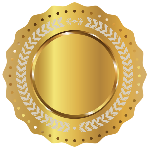 gold seal stamp png