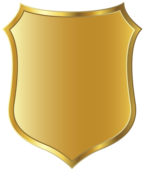Badge clipart gold. Police template ideas