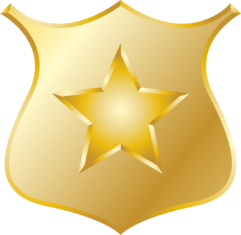 Badge clipart icon. Computer icons police officer