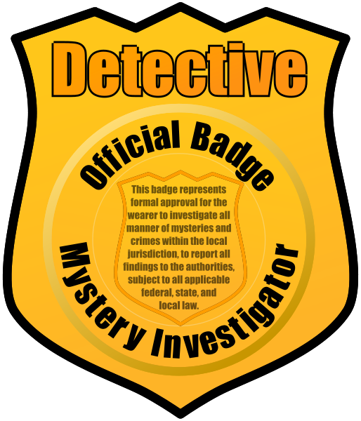 Badge clipart inspector. Detective panda free images