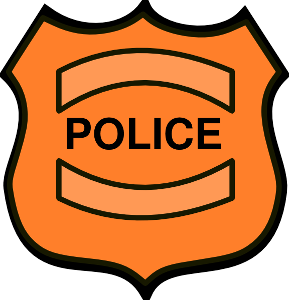 Badge drawing blank. Free police template download