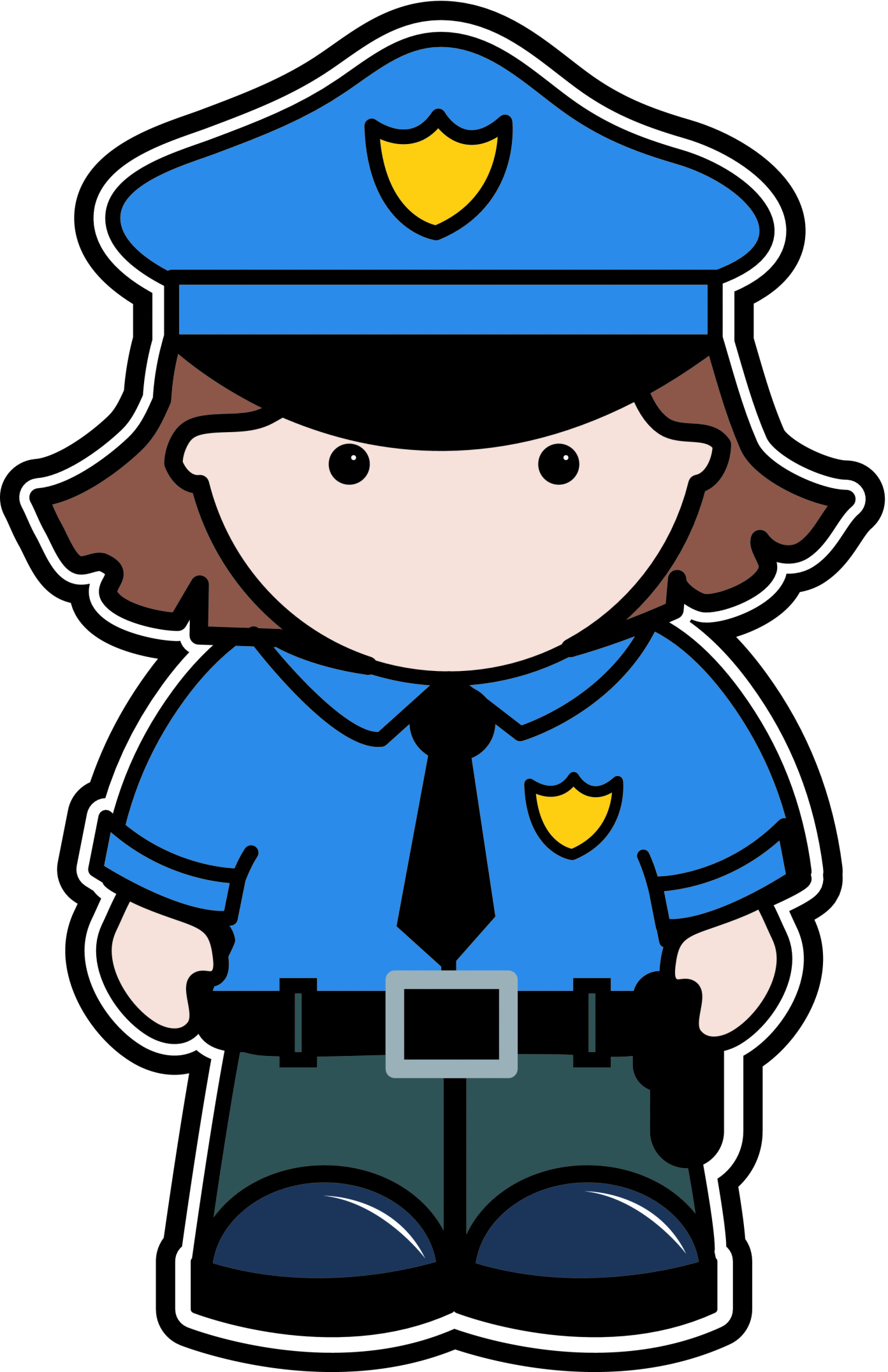 Policeman clipart authority. Police badge at getdrawings