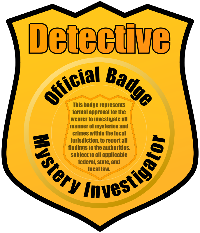 Mystery clipart. Detective badge by eady