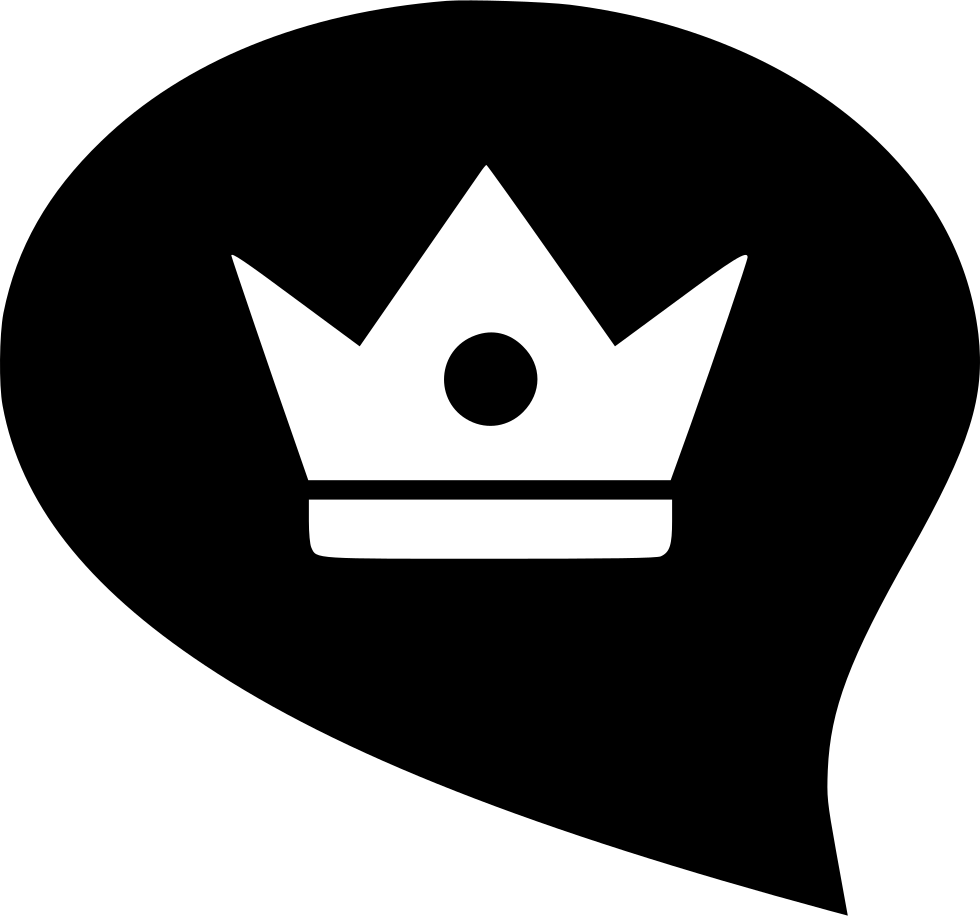 Badge drawing bubble. Crown king queen svg