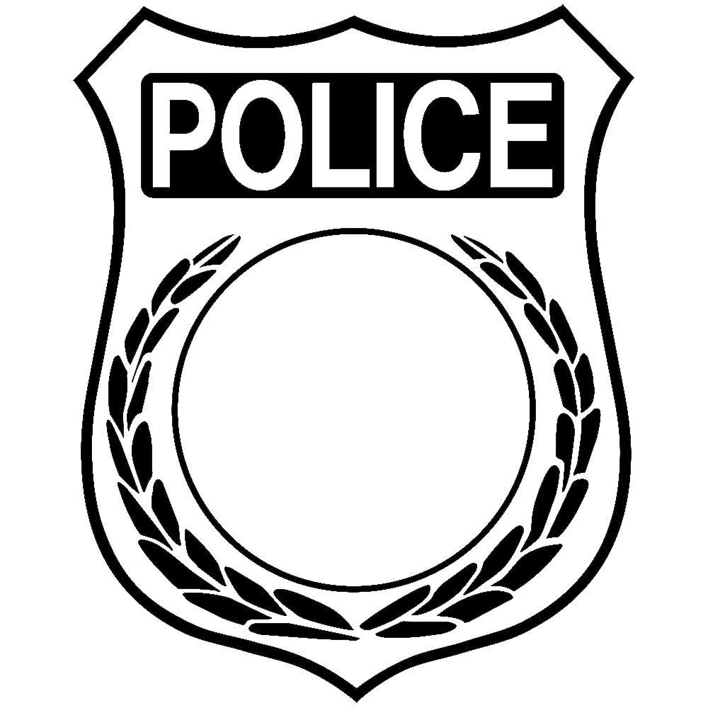 Badge drawing clip art. Security guard badges encode