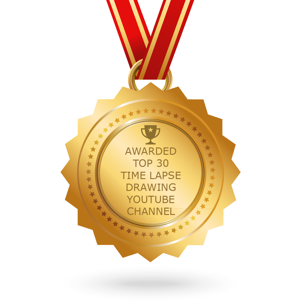 Medals drawing hand drawn. Top time lapse youtube