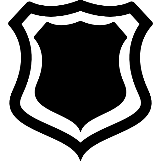 Shield outline png. Badge with free shapes