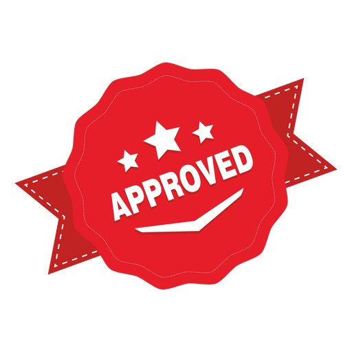 Vector pricing price badge. Approved round transparent png