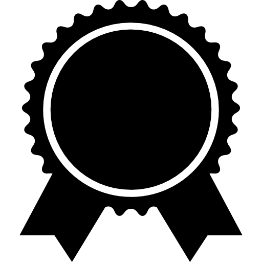 Badge shape vector png. Award of circular with