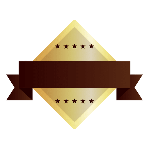 Badge shape vector png. Diamond golden transparent svg