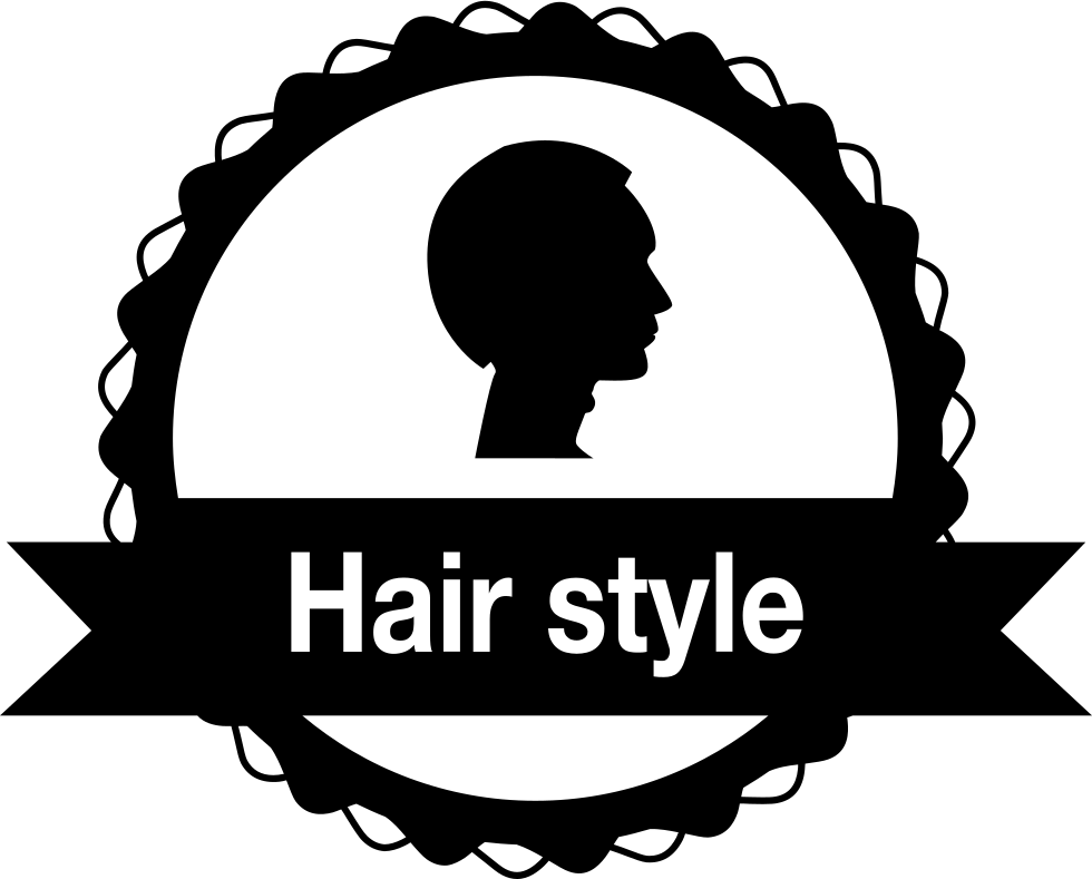 Badge shape vector png. Hair salon svg icon