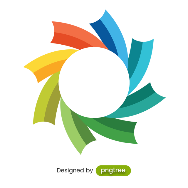 Badge shape vector png. Colorful abstract backdrop and